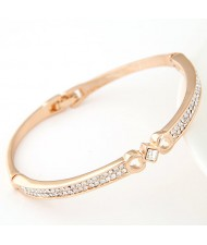 Czech Rhinestone Embedded Slim Style Lady Fashion Bangle