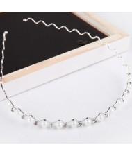 Pearl Embedded Wave Style Design Hair Hoop