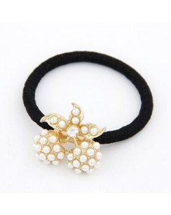 Korean Fashion Pearls Inlaid Cherry Design Hair Band