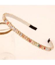 Korean Fashion Crystal Beading Hair Hoop - Multi-color