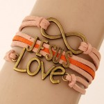 Jesus Love and Infinite Sign Pendants Multi-layer Weaving Fashoion Bracelet