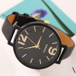 Coloful Candy Color Casual Style Women Sport Fashion Wrist Watch - Black